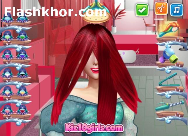 بازی آرایشگری دخترانه اندروید بازی آنلاین کامپیوتر سالن شیرین