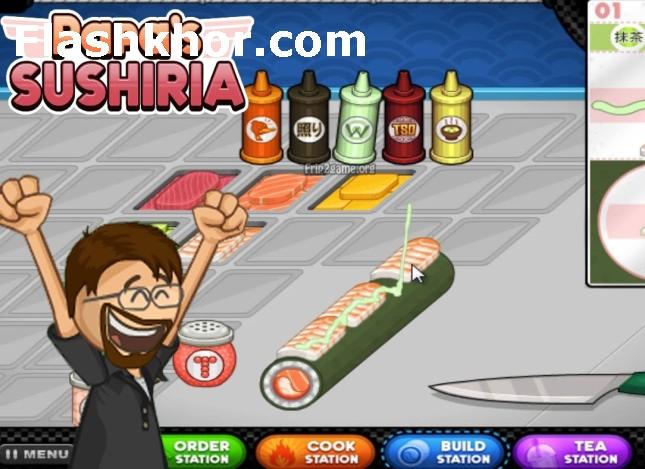 بازی سوشی فروشی پاپا بازی آنلاین مدیریت رستوران دخترانه