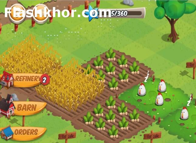 بازی مزرعه داری برای کامپیوتر اندروید کم حجم خانم سارا