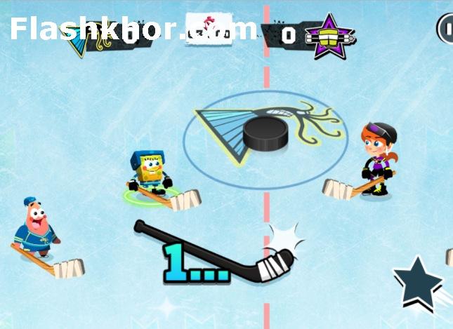 بازی هاکی روی یخ اندروید باب اسفنجی