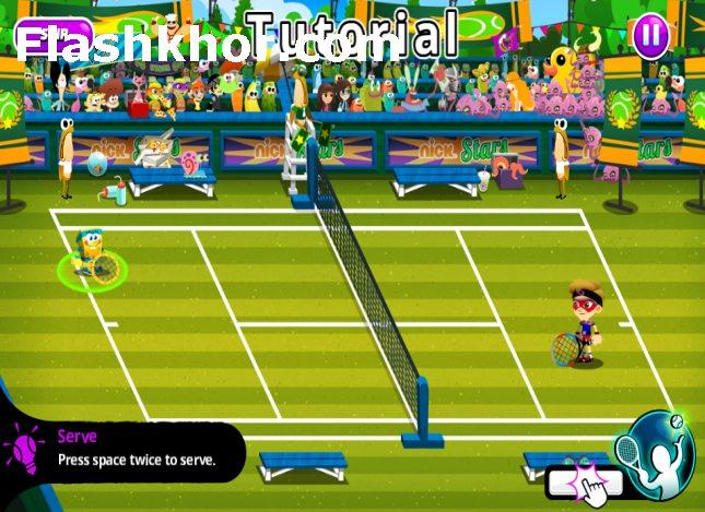 بازی تنیس اندروید hd بازی تنیس باب اسفنجی آنلاین