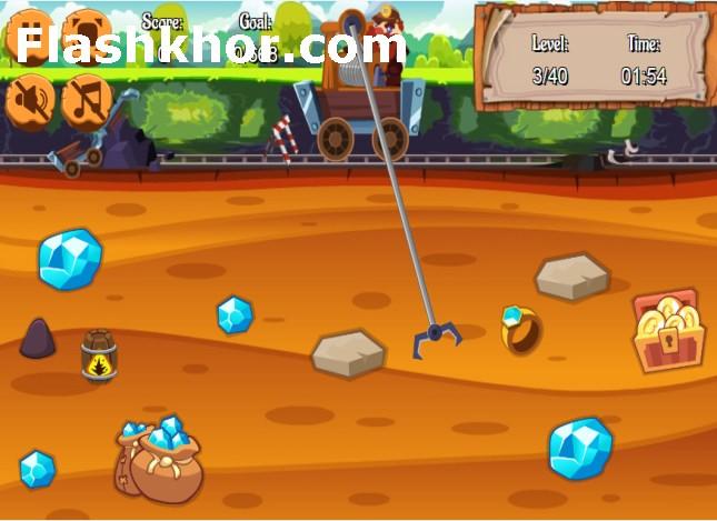 بازی گلد ماینر 2 gold miner آنلاین