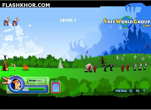 بازی آنلاین دفاع اولیه - تیر اندازی فلش