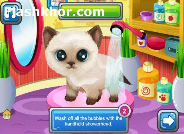 بازی شستن گربه برای اندروید کامپیوتر