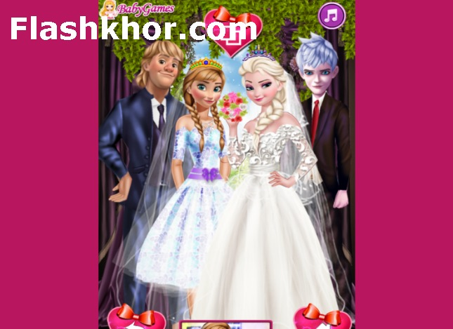 بازی عروسی باربی و شوهرش آنلاین زن