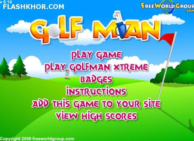 بازی آنلاین مرد گلف باز - ورزشی فلش