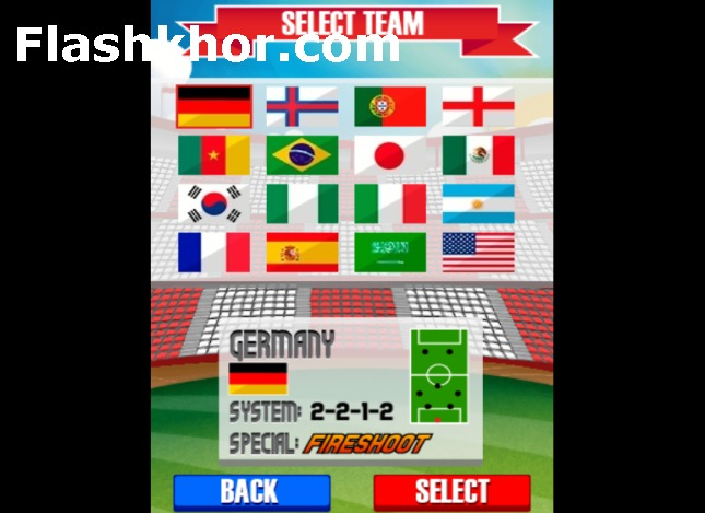 بازی فوتبال دستی برای کامپیوتر  pc کم حجم