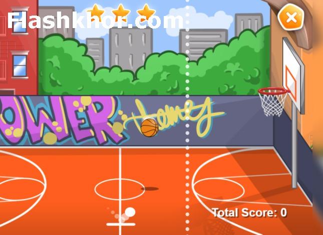 بازی آنلاین پرتاب توپ بسکتبال اندروید کامپیوتر