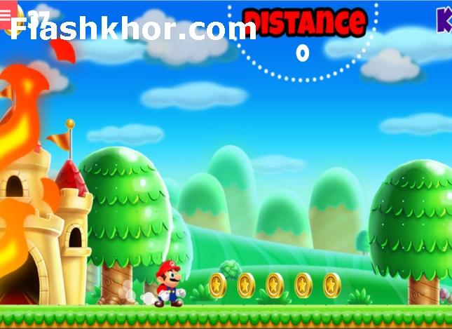 بازی ماریو ران برای اندروید کامپیوتر