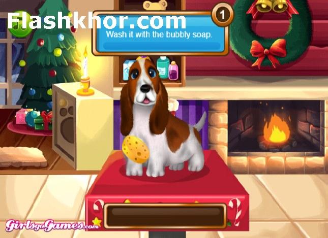 بازی شستن سگ و گربه باربی آنلاین