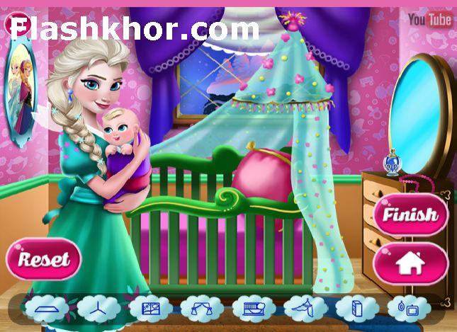 بازی دکوراسیون خانه عروسک تزیین آنلاین