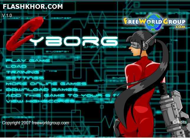 بازی آنلاین cyborg large فلش