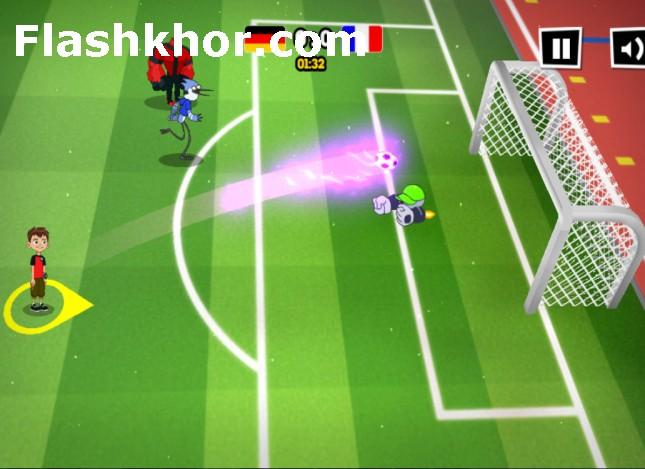 بازی فوتبال کارتونی برای کامپیوتر آنلاین 2017