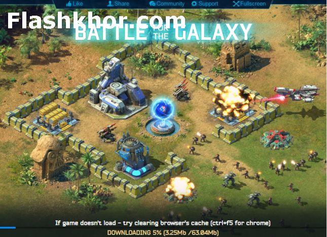 بازی جنگ کهکشانی سه بعدی ها آنلاین