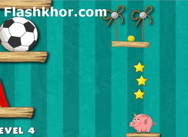 بازی خوک صورتی آنلاین برش طناب