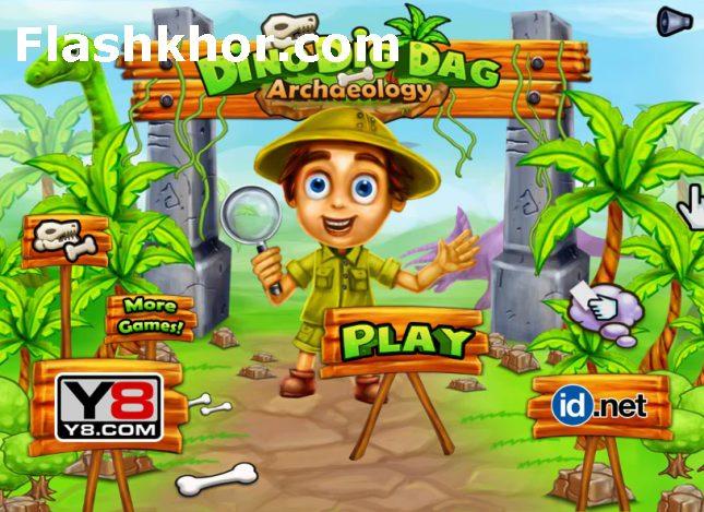 بازی باستان شناسی آنلاین کامپیوتر دایناسور