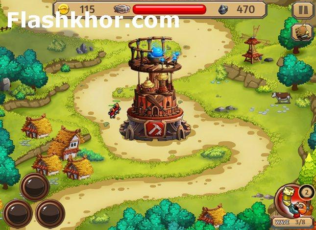 بازی دفاع از قلعه برای کامپیوتر pc ویندوز