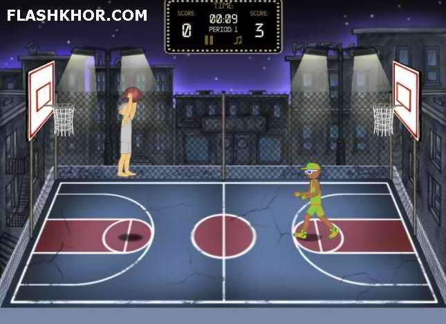 بازی آنلاین بسکتبال فلش