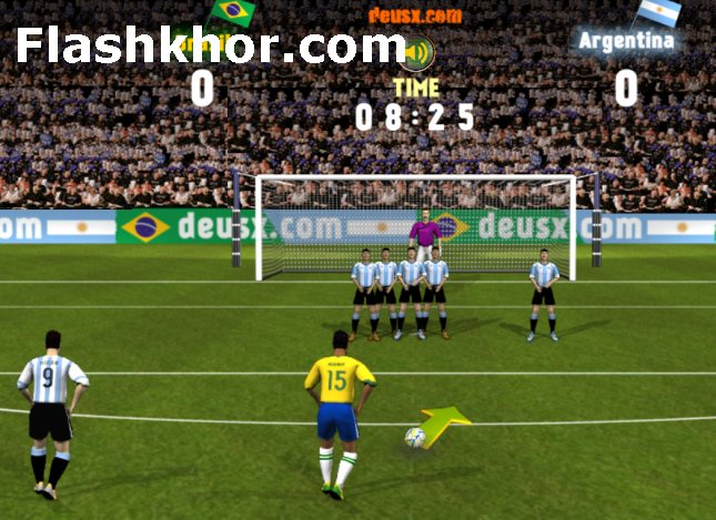 بازی آنلاین فوتبال رایگان برزیل و آرژانتین