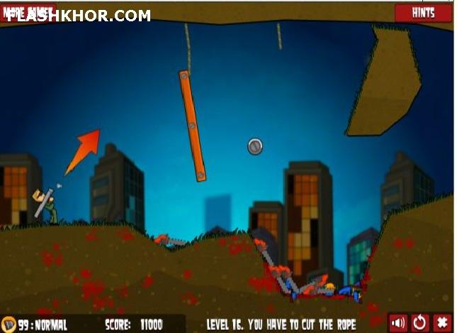 بازی آنلاین flaming zombooka 2 فلش