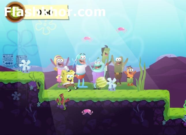 بازی باب اسفنجی برای کامپیوتر آنلاین فرار سریع