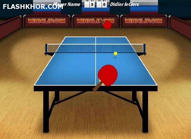 بازی آنلاین ll table tennis 2 ping pong پینک پونک  فلش