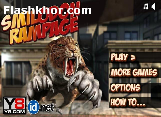 بازی ببر خشمگین وحشی دندان خنجری