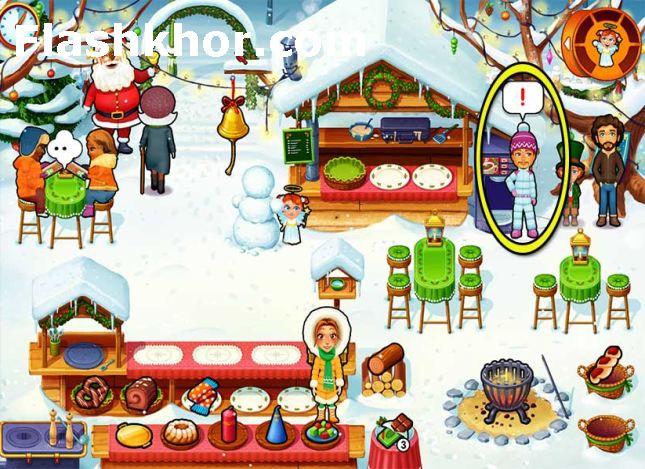 بازی مدیریتی کامپیوتر کم حجم رستوران امیلی کریسمس