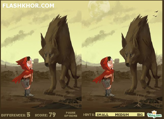 بازی آنلاین little red riding hood اختلاف تصاویر فلش