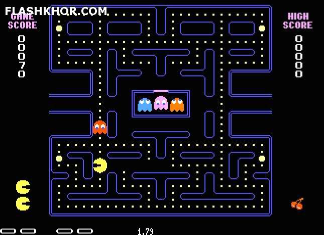 بازی آنلاین Pacman فلش