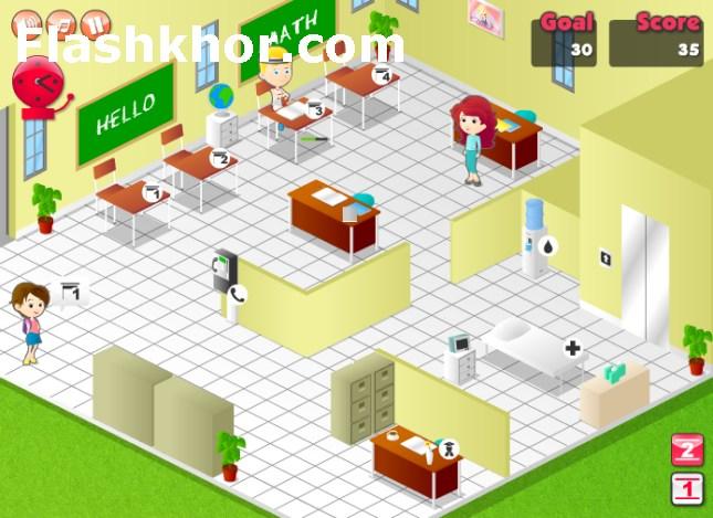بازی مدیریت مدرسه دخترانه کامپیوتر آنلاین