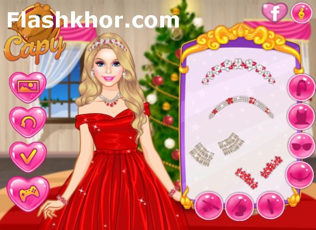 بازی لباس مجلسی دخترانه باربی آنلاین