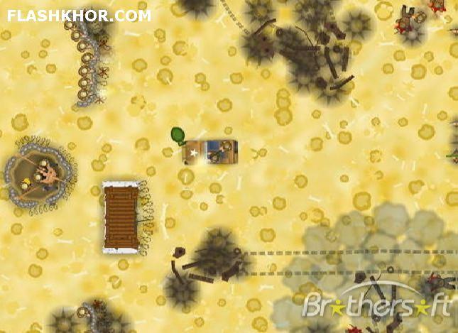 بازی آنلاین endless war defense فلش