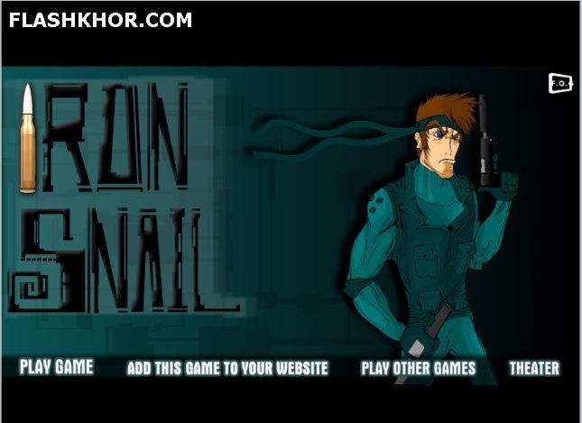 بازی آنلاین iron snail فلش