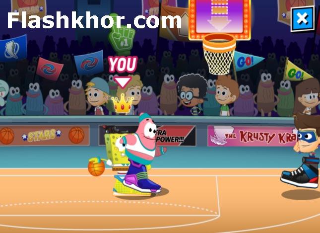 بازی بسکتبال برای کامپیوتر کم حجم باب اسفنجی 3