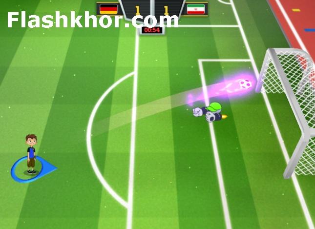بازی فوتبال جام جهانی 2018 کارتونی بن تن بنتن