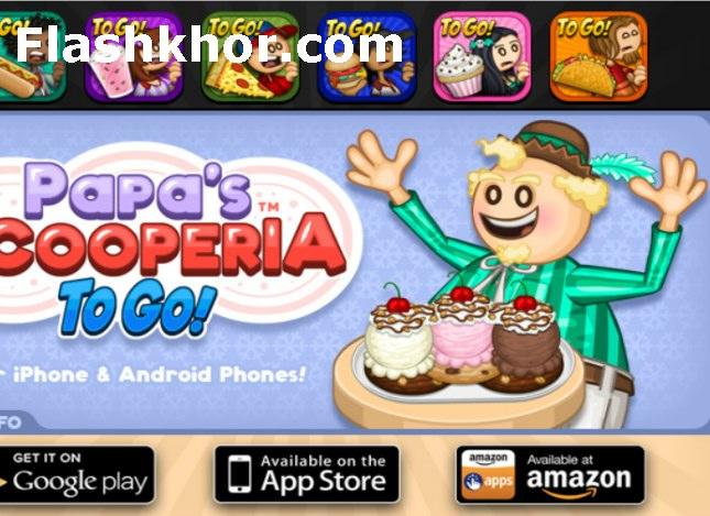 بازی بستنی فروشی اسکوپی پاپا دخترانه آنلاین رستوران داری