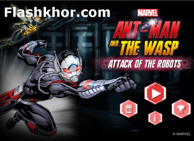 بازی مرد مورچه ای برای اندروید ربات ها آنلاین