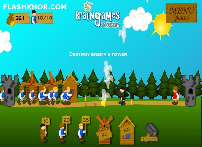 بازی آنلاین knights kastles فلش