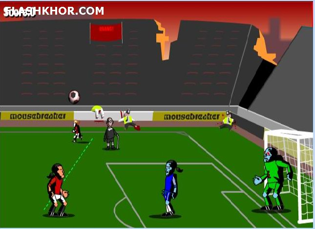 بازی آنلاین death Penalty zombie فوتبال پنالتی مرگبار فلش