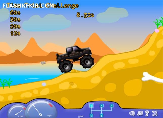 بازی آنلاین مسابقه کامیون های کوچک فلش