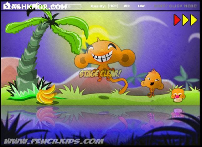 بازی آنلاین Monkey GO Happy 3 فلش