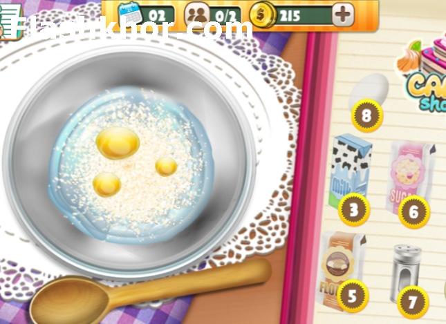 بازی کیک پزی جدید آنلاین دخترانه کامپیوتر