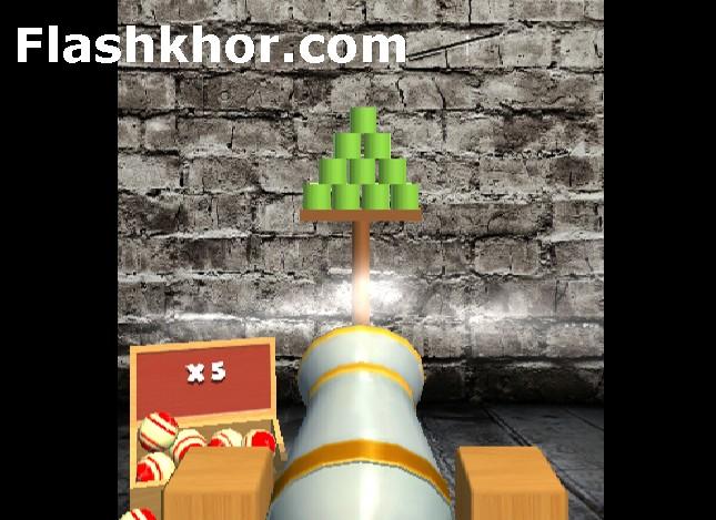 بازی پرتاب توپ به سمت قوطی شیشه بطری اندروید کامپیوتر