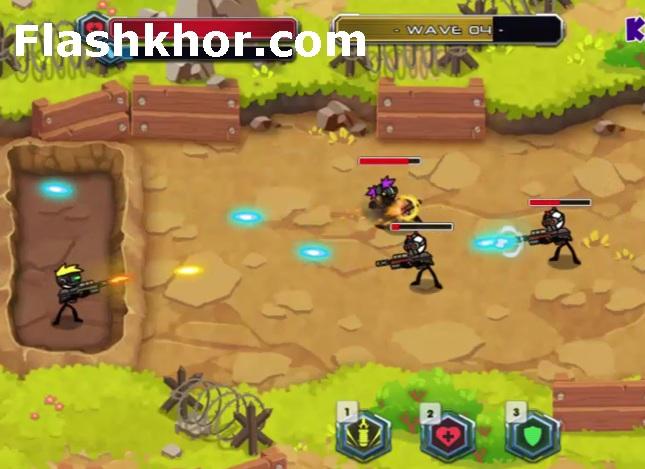 بازی سرباز جنگی اندروید کامپیوتر آنلاین