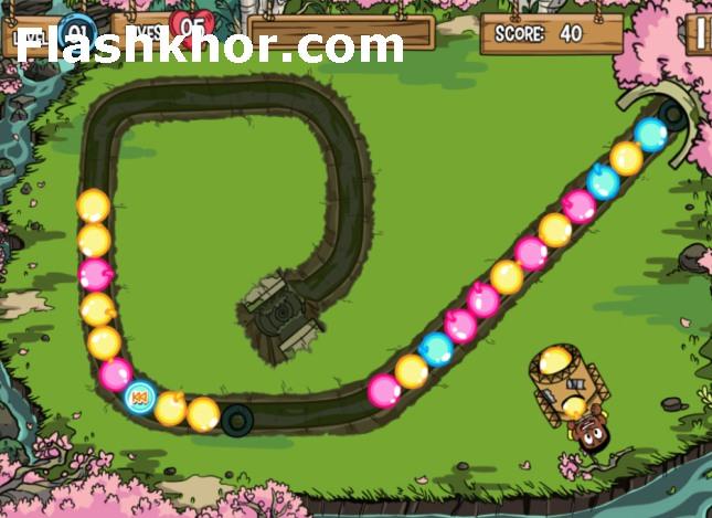 بازی پرتاب توپ رنگی اندروید کامپیوتر آنلاین