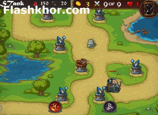 بازی دفاع از قلعه وایکینگ ها انلاین کامپیوتر