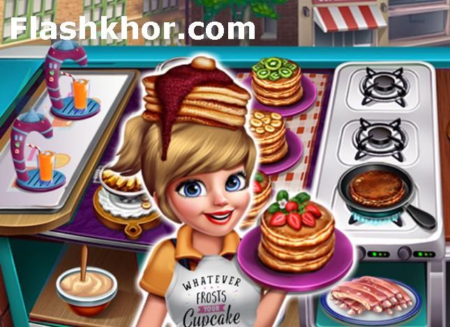 بازی رستوران داری السا 3 دنده و پنکیک