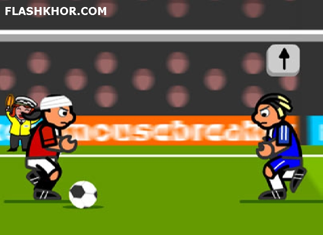بازی آنلاین striker run فوتبال دریپل فلش