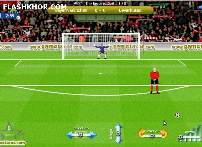 بازی آنلاین free kick league فوتبال ضربه ایستگاهی آزاد فلش